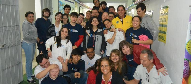 Visita da atleta Mônica Rodrigues